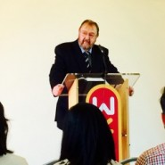 Rev Phil Hill, preaching at WEST's Dedication Service